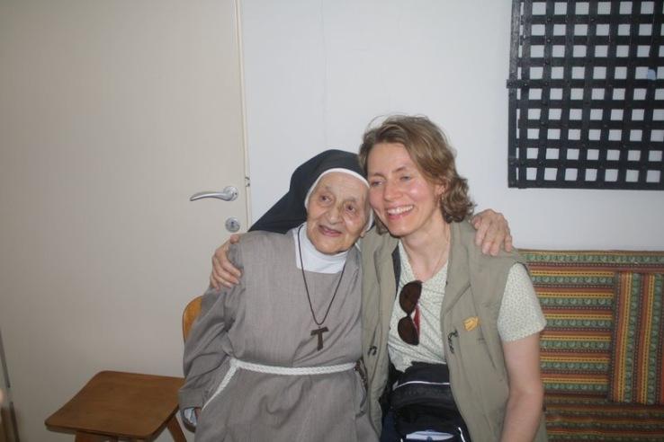 MOTHER JOSEPHINE WITH YVETE, POOR CLARE CONVENT, NAZARETH
