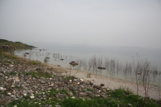SEA OF GALILEE IN HEAT MIST